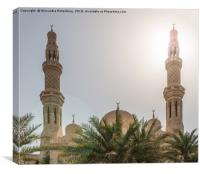 Mosque with blue sky, Canvas Print