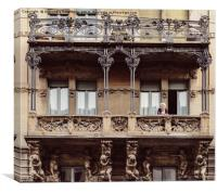 Art Nouveau Italian Architecture, Canvas Print
