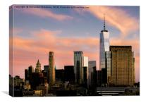 Manhattan, New York City Sunset, Canvas Print