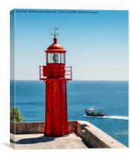 Red Lighthouse, Canvas Print