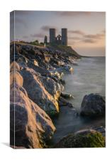 Reculver tower, Canvas Print