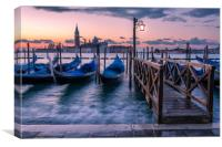 Looking out to San Giorgio Maggiore Church , Canvas Print