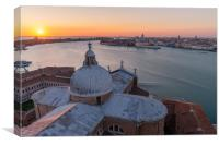 Church of San Giorgio Maggiore Bell Tower, Canvas Print