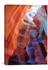 All colors of Antelope Canyon - 6, Canvas Print