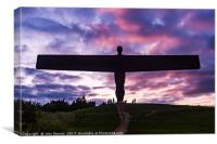 Angel Of The North Sculpture, Canvas Print