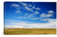 Romantic sky and moorland, Canvas Print