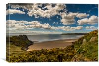 Great Tor & Oxwich Bay, Canvas Print