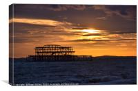 West Pier at sunset, Canvas Print