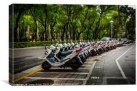 Every Scooter has its place , Canvas Print