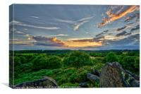 Sunset over the Altar Stones, Canvas Print