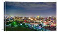 Ho Chi Minh Cityscape at night in District 8, Canvas Print