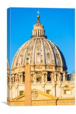 St Peter's Cathedral Cupola , Canvas Print