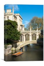 Punting under the Bridge of Sighs, Canvas Print