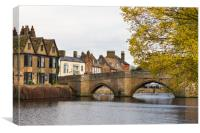River Great Ouse with the medieval St Leger Chapel, Canvas Print