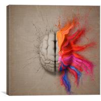 The Creative Brain, Canvas Print