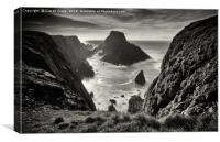 Malin Head Sea Stacks , Canvas Print