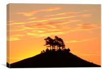 Golden sunrise at Colmer's Hill, Canvas Print