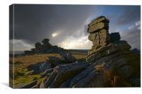 Great Staple Tor, Canvas Print