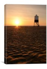 Low Lighthouse Sunset, Canvas Print