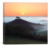 Colmer's Hill square format, Canvas Print