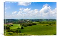 The South Downs from Cissbury Hill, Canvas Print