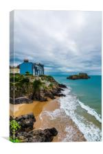 South bay esplanade at Tenby, Wales., Canvas Print