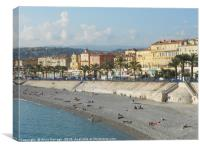 View of Nice Promenade on the French Riviera , Canvas Print