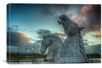 Kelpies Sunset, Canvas Print