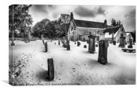 Abercorn Church in the Snow, Canvas Print