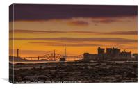 Blackness Castle and the Forth Bridges, Canvas Print