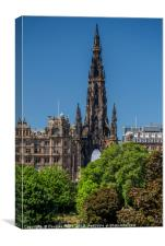 The Scott Monument, Canvas Print