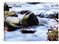 Silky river , Canvas Print
