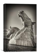 The Kelpies No.2, Canvas Print