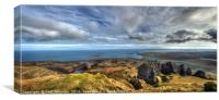 View from the top of the Needle Rock, Isle of Skye, Canvas Print