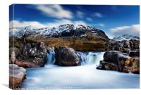 Waterfall on the River Etive., Canvas Print
