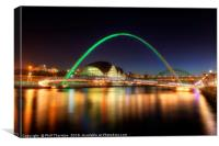 Gateshead Millennium Bridge No.2, Canvas Print