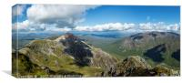 Buachaille Etive Mor, looking towards Stob Dearg., Canvas Print