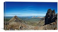 View of the Red Cuillins from the Black Cuillin , Canvas Print