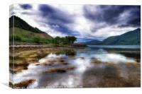 View south down Loch Linnhe, Canvas Print