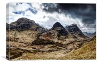 The Three Sisters of Glencoe no.2, Canvas Print