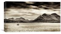 Stormy skies over the The Sound of Raasay and The , Canvas Print