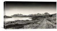 The Sound of Raasay and The Cuillin range No.2, Canvas Print