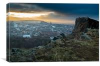 Sunset from Arthur's Seat, Canvas Print