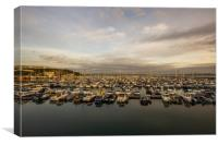 Brixham harbour boats early morning, Canvas Print