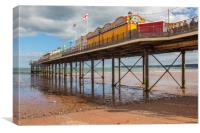 Paignton pier and beach, Canvas Print