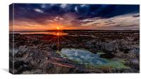 Cribinau Sunset, Canvas Print