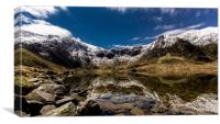 Cwm Idwal By Moonlight, Canvas Print