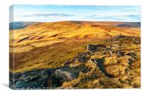 West from Bowland Knotts , Canvas Print
