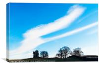 Clouds over Greenhalgh Castle, Canvas Print