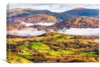 Little Langdale autumn, Canvas Print